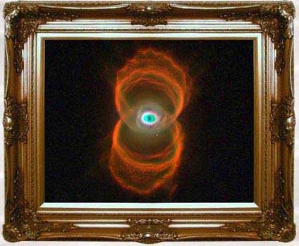 Hourglass Nebula by Hubble