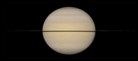 Saturn-Edge-on
