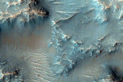 Hydrated Crater in Tyrrhena Terra