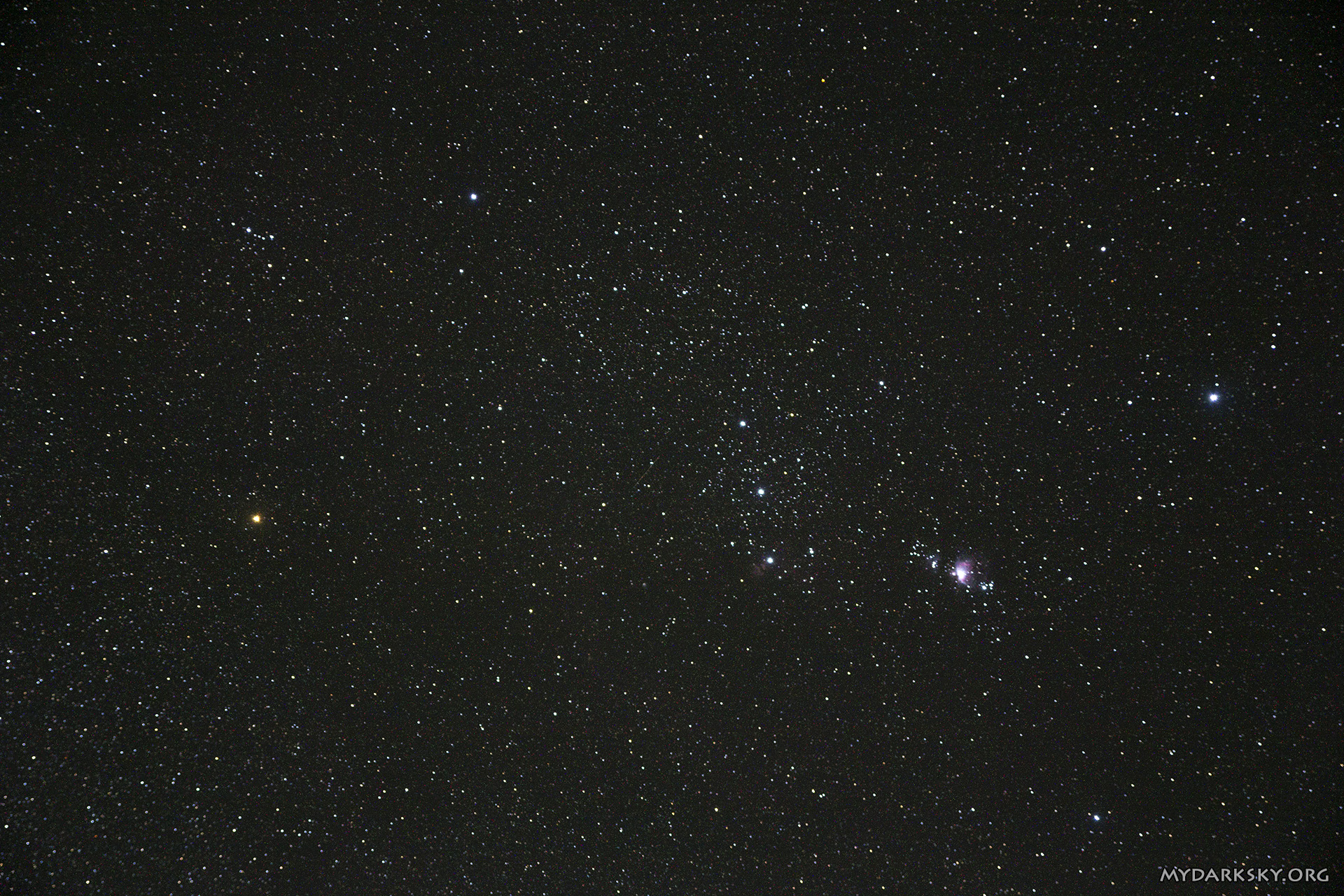 Click To Enlarge Orion, FL50 mm, 3 min (click to enlarge)