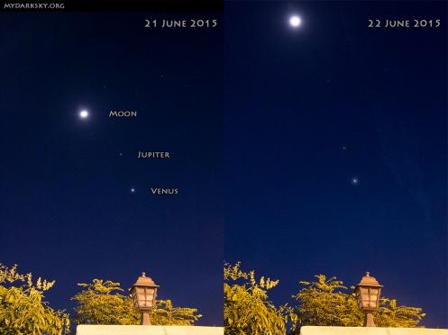Moon Venus Jupiter 2015